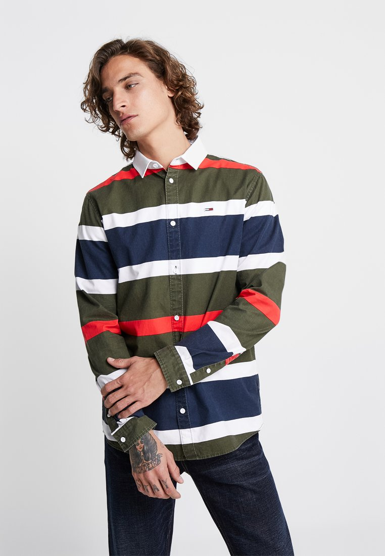 Tommy Jeans - RETRO STRIPE - Shirt - green