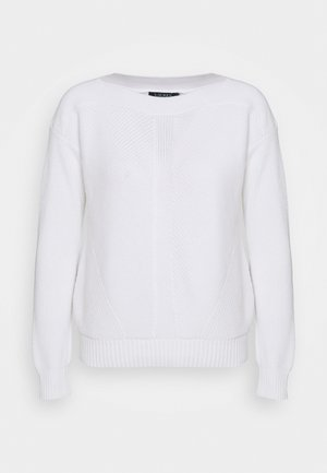 GASSED BOAT NECK - Jumper - white