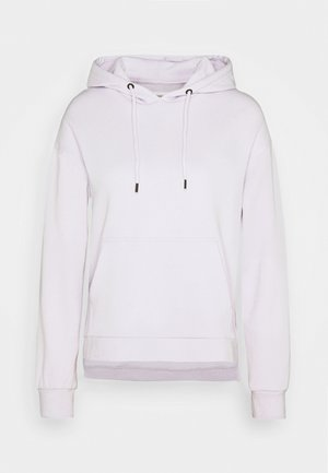 OVERSIZED HOODIE WITH POCKETS AND SIDE SLITS - Hoodie - lilac