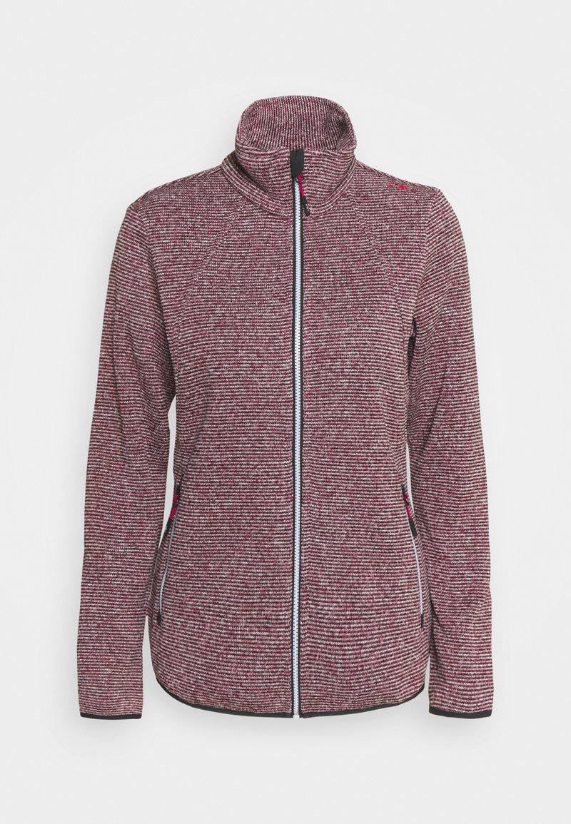 Campagnolo - WOMAN JACKET - Fleece jacket - sangria/antracite