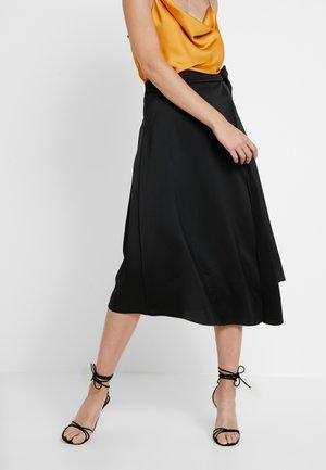 PORTY  - Áčková sukně - noir
