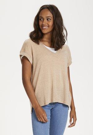 KARELANI - T-shirt med print - beige