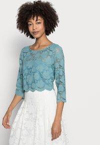 Esprit Collection - LACE SHIRT - Print T-shirt - dark turquoise - 3