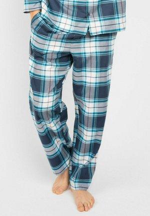 Pyjamabroek - navy/blue checks