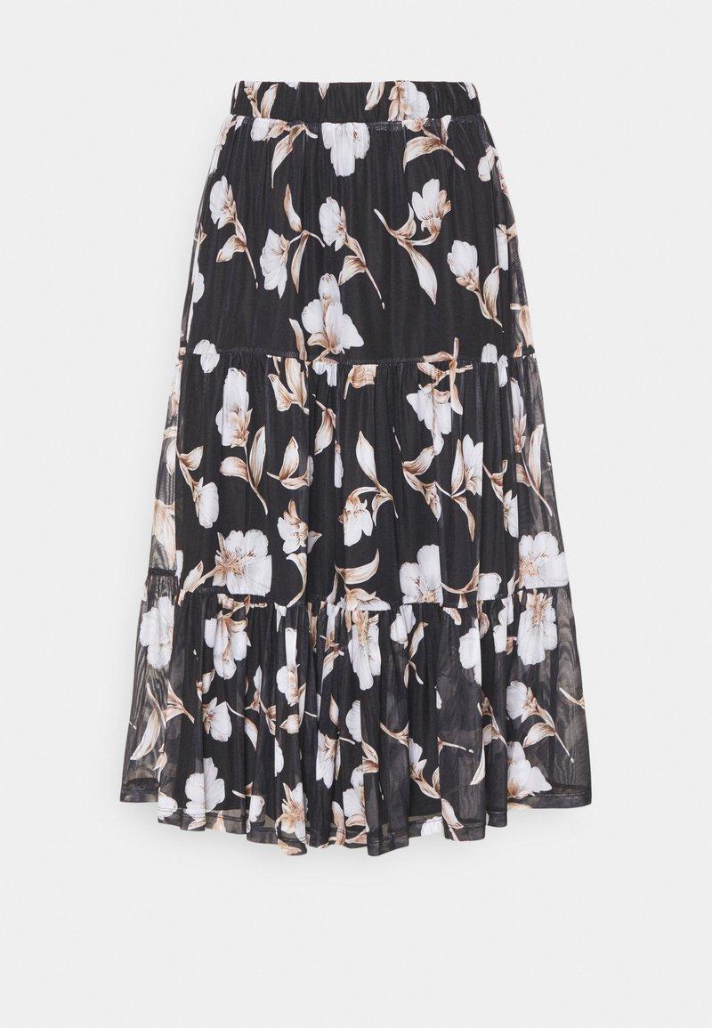 Vila - VIDAVIS MIDI SKIRT - A-line skirt - black