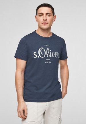 MIT LABEL-PRINT - Print T-shirt - dark blue