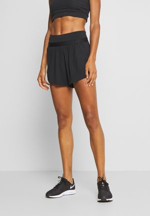 RUN SHORT 2 IN 1 - Sports shorts - black