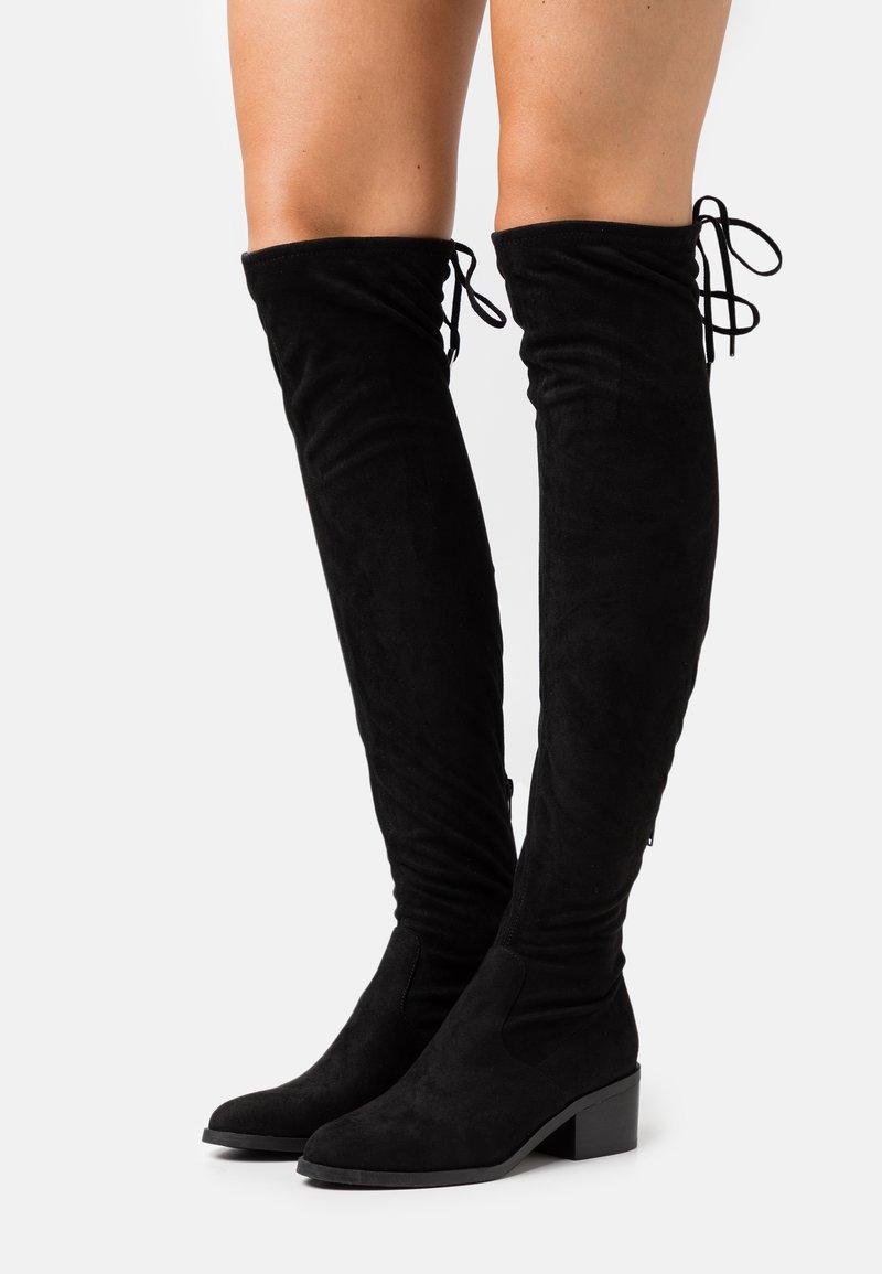 Steve Madden - GERARDINE - Over-the-knee boots - black
