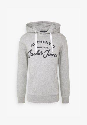 JJHERO HOOD - Jersey con capucha - light grey melange