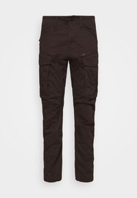 ROVIC ZIP TAPERED - Cargo trousers - deep brown