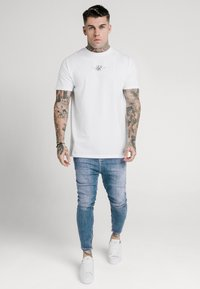 SIKSILK - SIKSILK DROP CROTCH  - Vaqueros pitillo - stone blue denim - 1