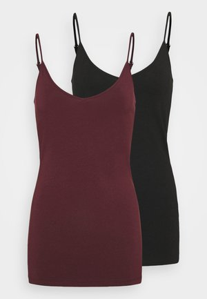 VMMAXI MY SOFT SINGLET 2 PACK - Top - black/port royale