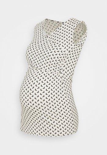 FIONA TANK - Top - off white/black origami