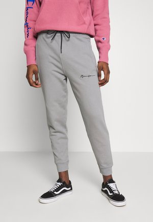 REGULAR SIGNATURE  - Tracksuit bottoms - slate grey