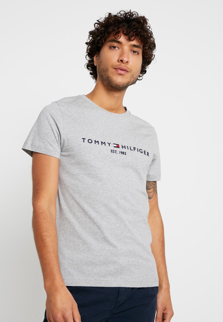 Tommy Hilfiger - LOGO TEE - Print T-shirt - grey