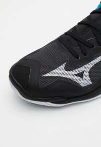 Mizuno - WAVE MIRAGE 3 - Handball shoes - black/white/diva blue - 5