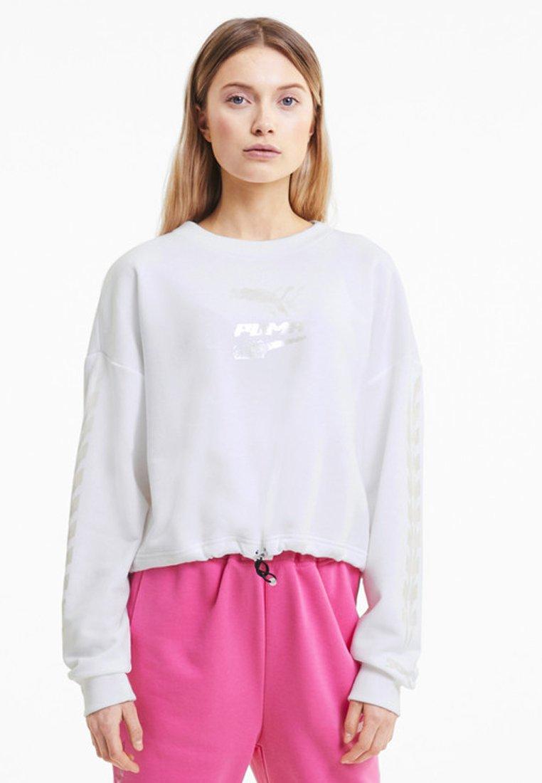 Puma - EVIDE CREW - Sweatshirt -  white