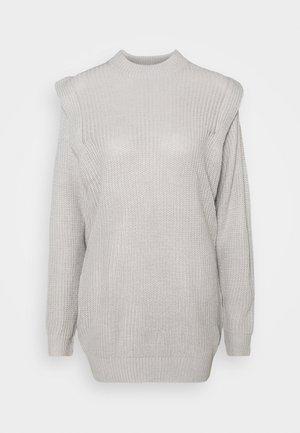 SHOULDER LIP JUMPER DRESS - Sukienka dzianinowa - grey