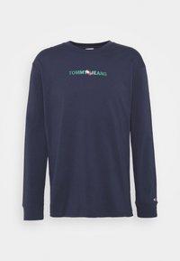 Tommy Jeans - LOGO TEE UNISEX - Långärmad tröja - twilight navy - 4