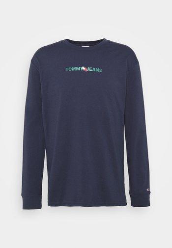 LOGO TEE UNISEX - Long sleeved top - twilight navy