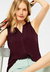 Cecil - MIT SMOK DETAILS - Blouse - rot - 1