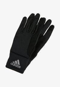 adidas Performance - GLOVES - Gloves - black/black/reflective silver - 2