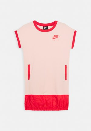 AIR DRESS - Jersey dress - washed coral/track red