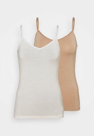 2 PACK - Unterhemd/-shirt - creme/sand