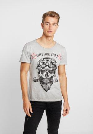 MT BEARDED BIKER - Print T-shirt - silver