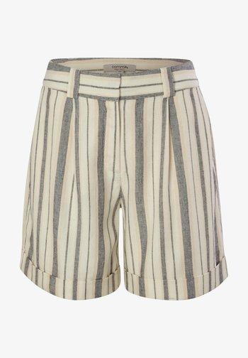 Shorts - white woven stripes