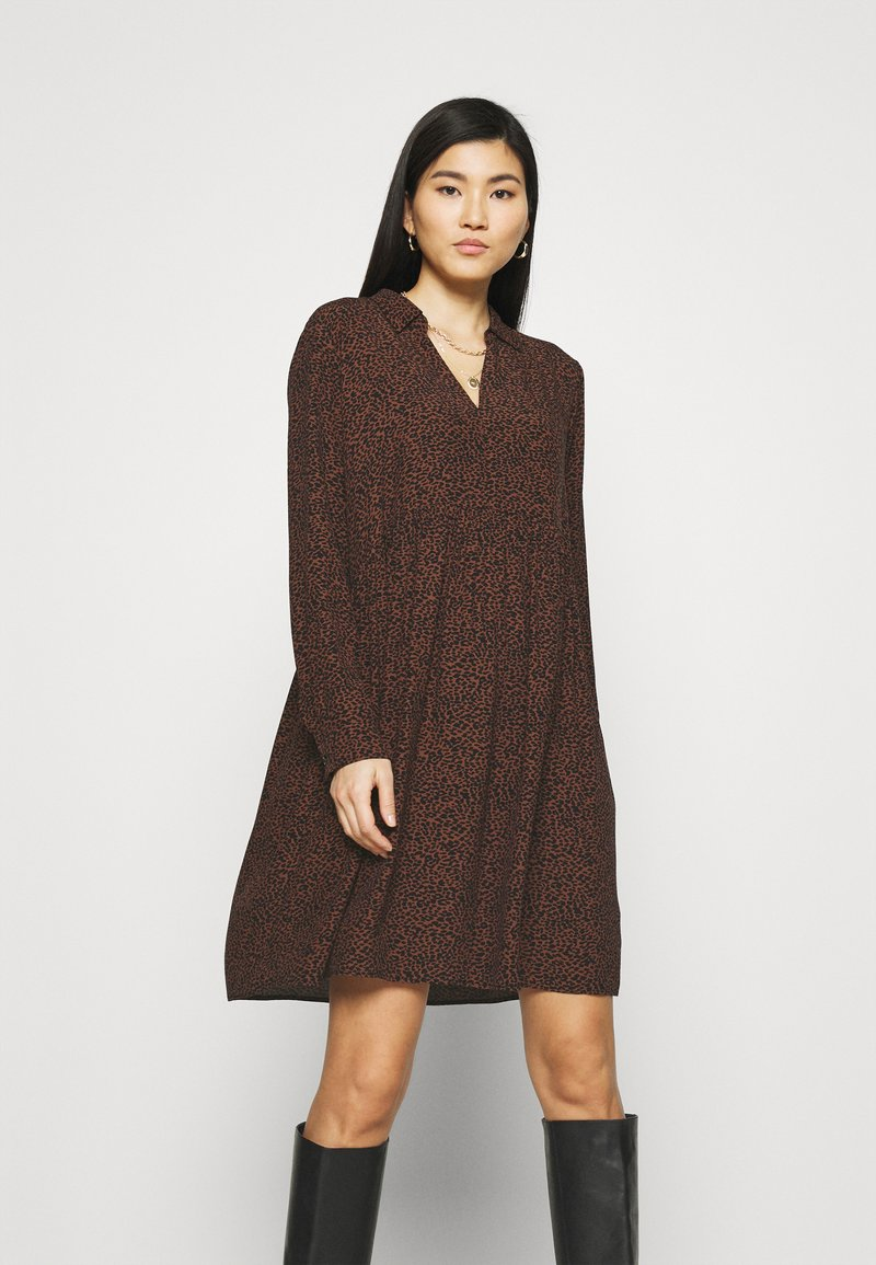 Esprit - EASY TUNIC DRESS - Day dress - brown