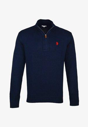 HALF ZIP TROYER - Pullover - dunkelblau