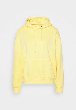 BASIC OVERSIZED HOODIE WITH POCKET - Jersey con capucha - light yellow