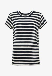 DAFFODIL TEE IN COOT STRIPE - Triko s potiskem - dark nightfall
