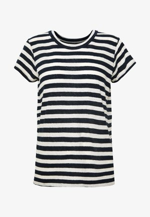 DAFFODIL TEE IN COOT STRIPE - T-shirts med print - dark nightfall