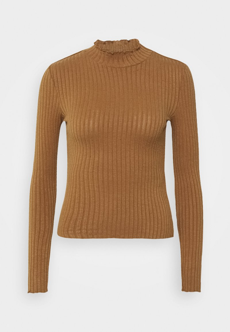 Noisy May Petite NMBERRY HIGH NECK - Strickpullover - sugar swizzle/offwhite BZ8Ay6