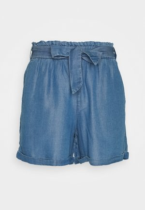INDIGO SOFT RELAXED - Szorty jeansowe - used light stone blue denim