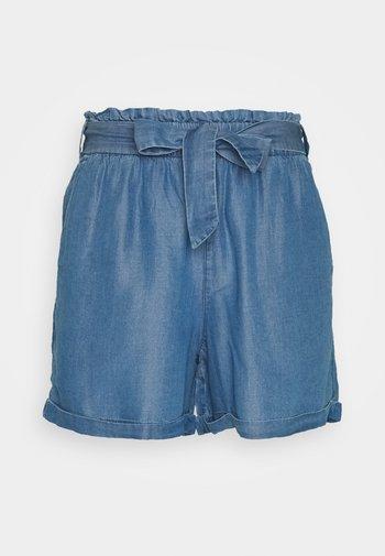 INDIGO SOFT RELAXED - Denim shorts - used light stone blue denim