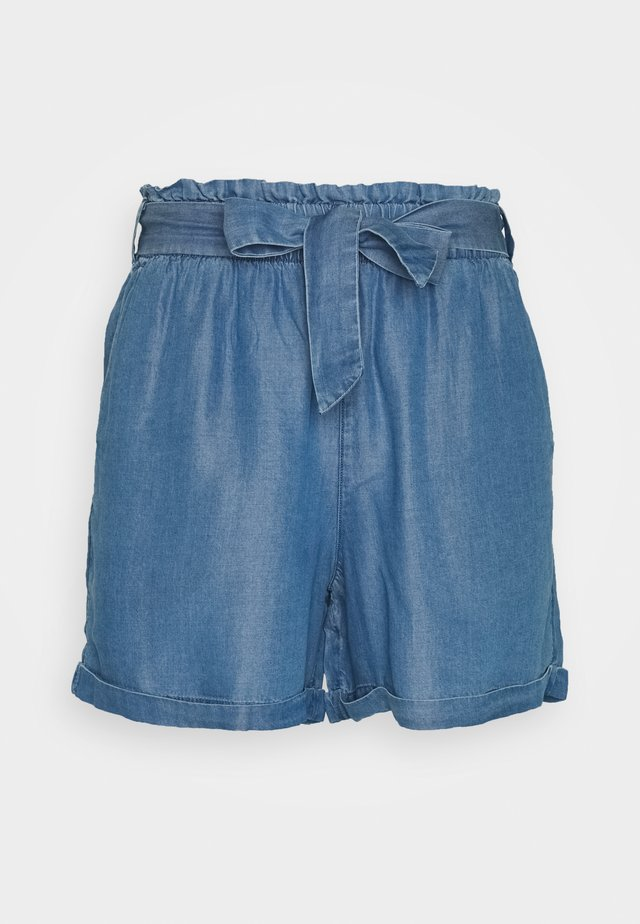 INDIGO SOFT RELAXED - Shorts di jeans - used light stone blue denim