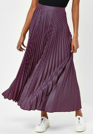 GINGHAM   - Maxi skirt - pink