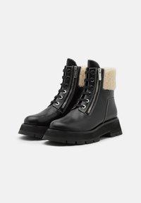 3.1 Phillip Lim - KATE LUG SOLE DOUBLE ZIP BOOT - Lace-up ankle boots - black - 1