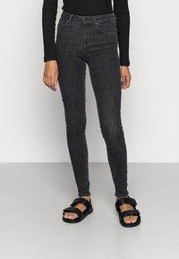 ONLY - ONLPOWER MID PUSH UP - Jeans Skinny - medium grey denim - 0