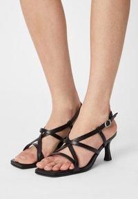 Selected Femme - SLFASHLEY  - Sandals - black - 0
