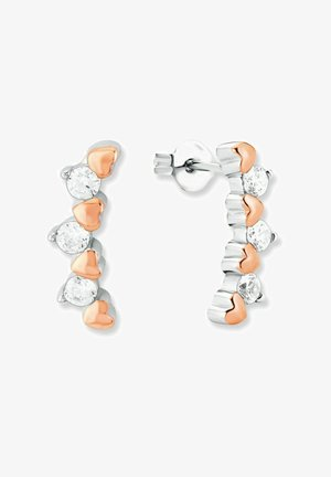 Örhänge - silver coloured/apricot