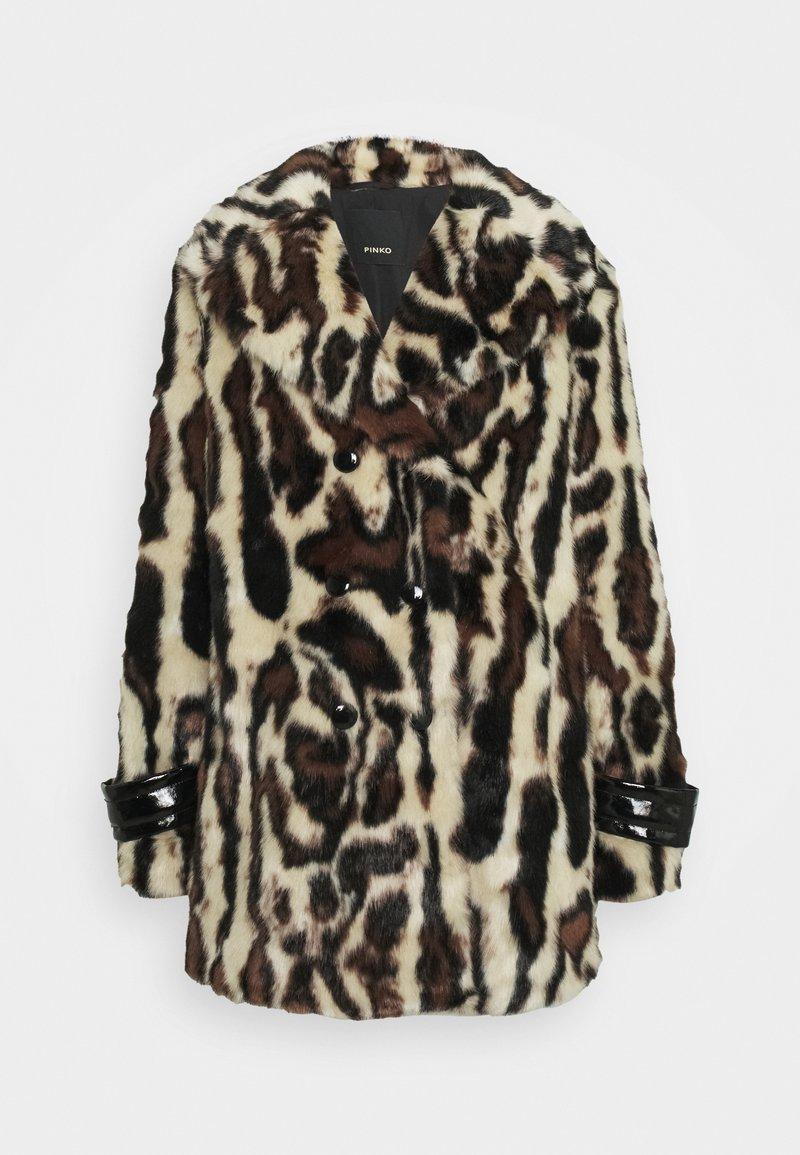 Pinko - FEDELINO KABAN - Winter coat - nero/bianco/marone