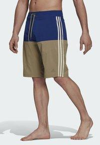 adidas Performance - Swimming shorts - mottled beige/ light blue - 1