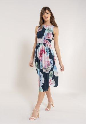 Day dress - navy / multi