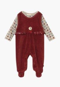 Jacky Baby - IN MY BACKYARD CHRISTMAS SET - Sleep suit - dunkelrot - 0