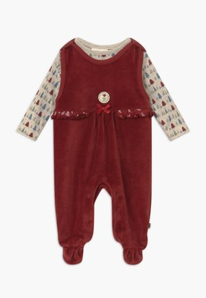 IN MY BACKYARD CHRISTMAS SET - Sleep suit - dunkelrot
