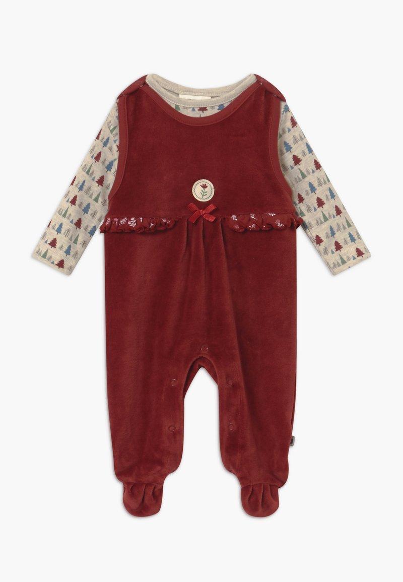 Jacky Baby - IN MY BACKYARD CHRISTMAS SET - Sleep suit - dunkelrot